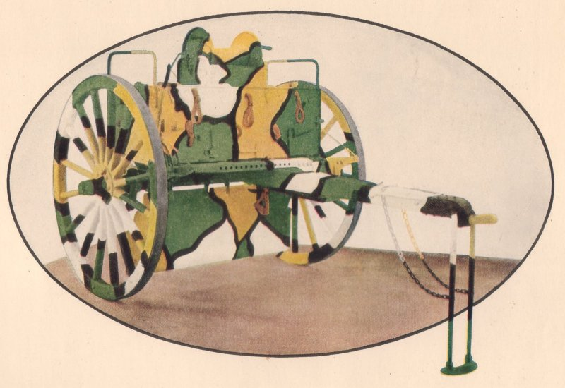 American Car Foundry Co. Color Print of a Camouflaged Caisson