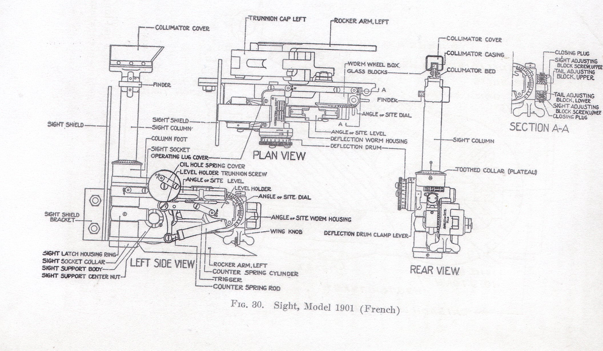 "75mm mle/""97 Sightmount"